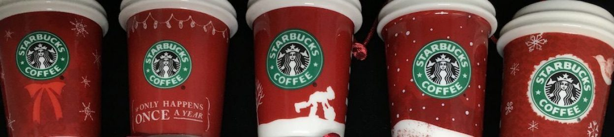 Starbucks Ornament Red Cups
